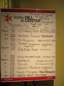 Hill Center Event List