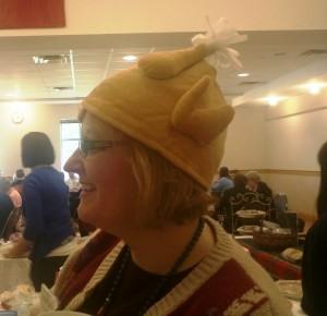 Kristin In Her Turkey Hat