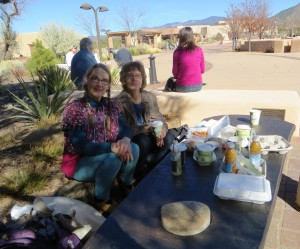 Tere and Paula At Lunch On The Plaza