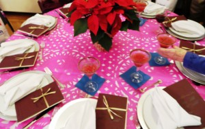 Table Setting With Paper Cutouts