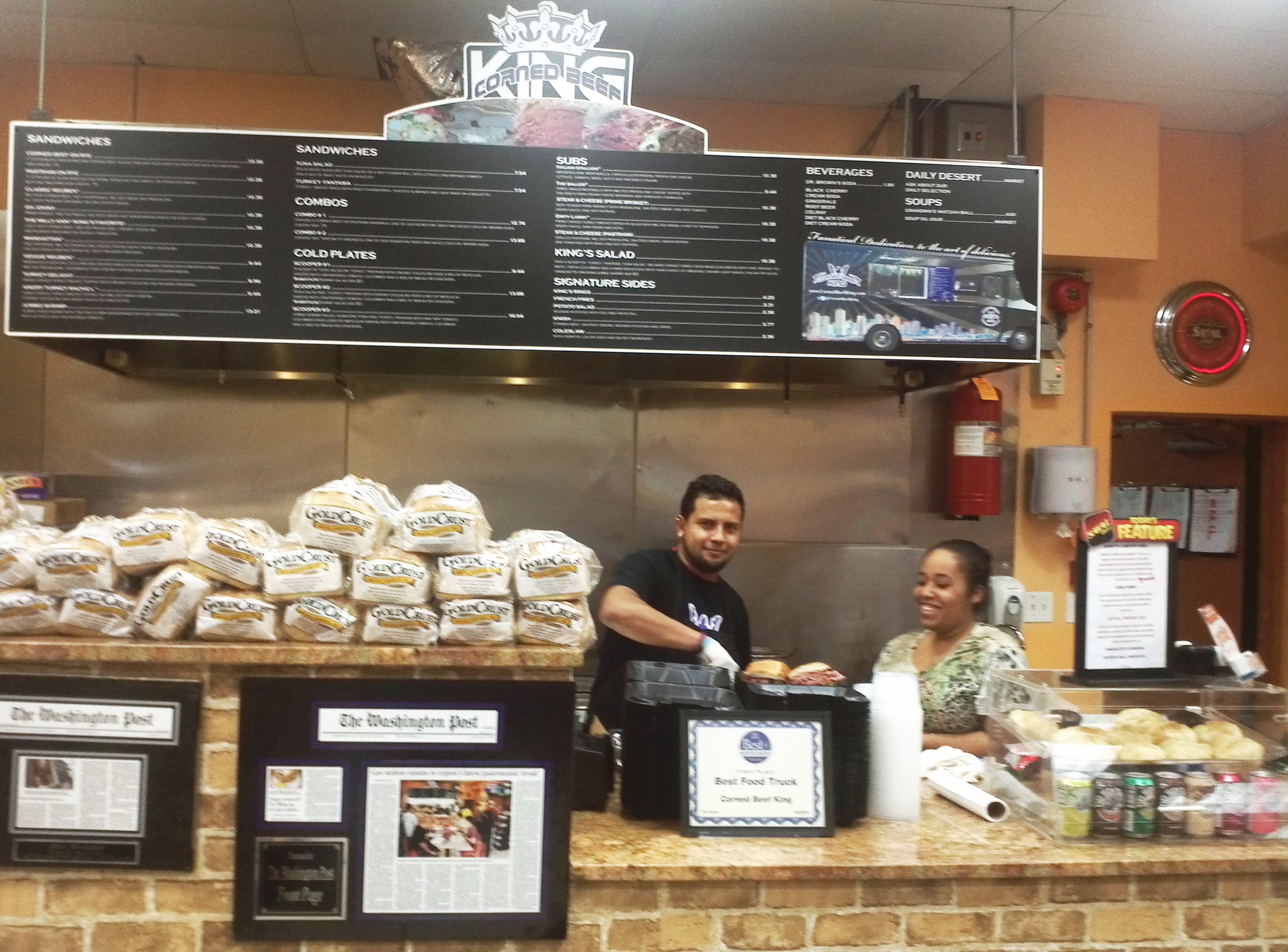 Freddy And Vianni Behind The Counter