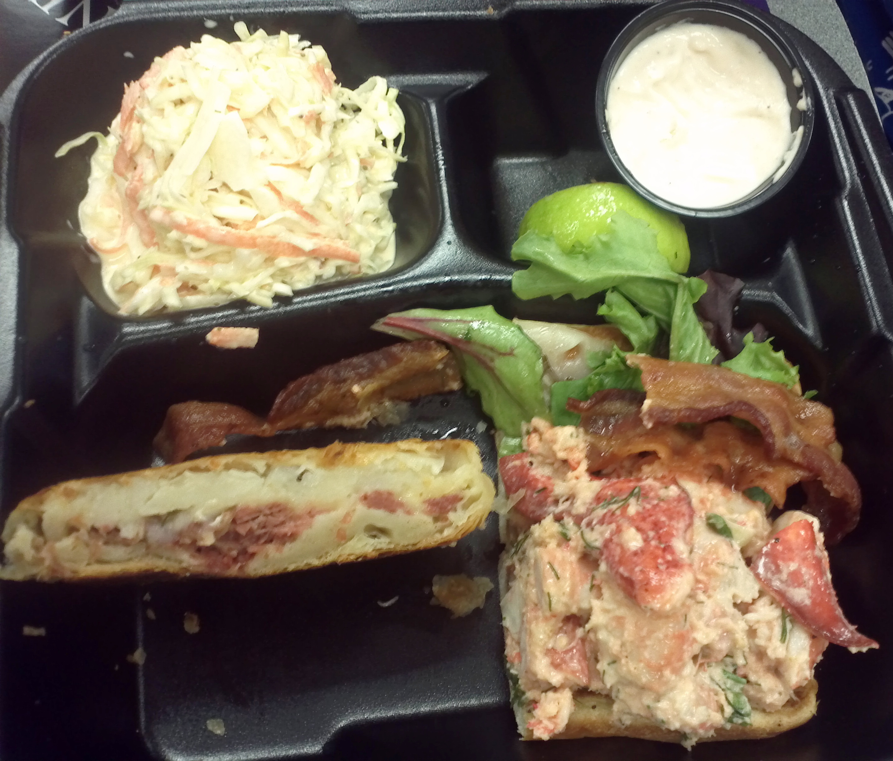 Knish And Shrimp And Lobster Roll