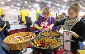 Food on Convention Floor During Opening Reception
