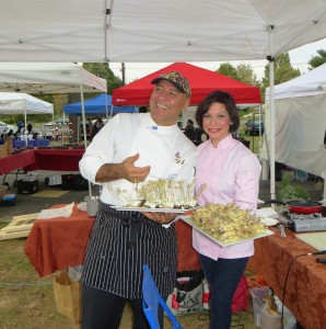 Chef Luigi, with Amy Riolo, at Olney Farmers and Artists Market