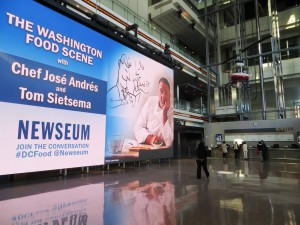 The Sign In The Newseum Lobby