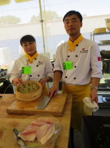 Chefs Yuman and Peng, With Dumplings