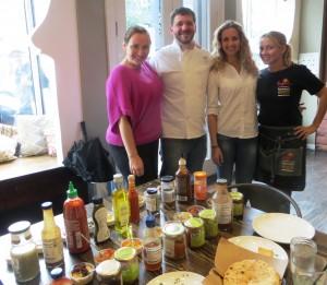 L to R: Mary Beth, Chef Cory, Seba, Regina