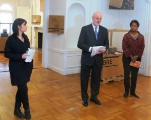Curator Tachy Mora, Ambassador Gil-Casares, Ms. Alicia Adams