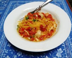 Spaghetti Squash With Chestnut Puree