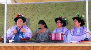 The Catacora Sisters with Interpreter