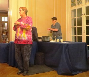 Chef Susan Callahan, in Another Wonderful Chef's Jacket, and Chef Michelle
