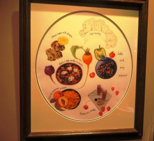 Chef Susan's Portrait by Judy Brown, a Botanical Illustrator