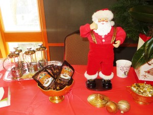 Coffee and Dancing Santa