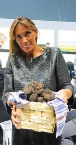 Olga Urbani Holding The Truffles