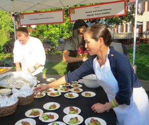 Yumi Hogan, First Lady of Maryland, Serves Her Bulgogyi