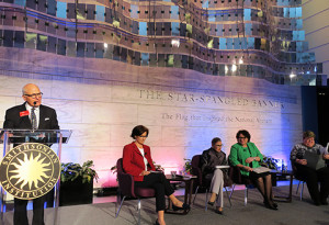 L to R: John Gray, Clare Cushman, Justice Ruth Bader Ginsburg, Justice Sonia Sotomayor, Catherine Fitts