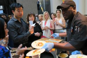 Barbados Chef Creig Greenidge Handing Out Pork