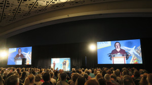 Big Hall with Sarah Vowell In It