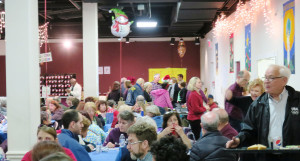 Dinner Crowd at Winterfest