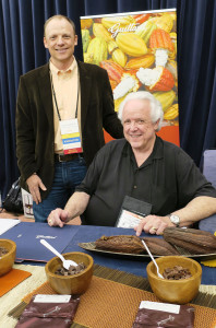 Clark Guittard (Left) At His Exhibition Table