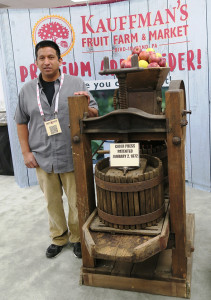 Mr. Kauffman and Cider Press
