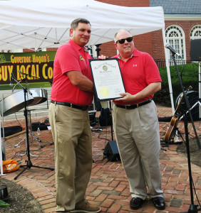 The Secretary of Agriculture, Joe Bartenfelder, and Gov. Hogan Proclaim