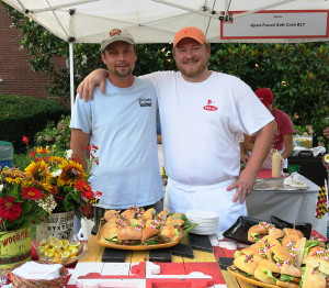 Pat Mahoney of Wild Country Seafood and George Betz of Boatyard Bar and Grill