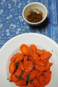 Carrots, Harissa on the Side