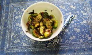 Grenadine Grilled Brussels Sprouts
