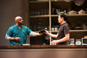 Jefferson A. Russell (Lucien) and Tony Nam (Ray) in Aubergine written by Julia Cho. (Photo: Stan Barouh)